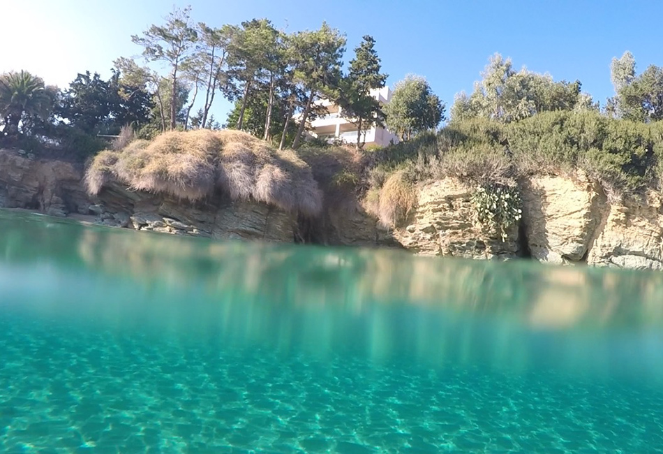 Agia Pelagia yacht charter destination with crystal clear waters